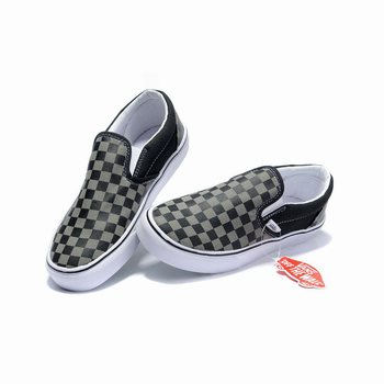 Vans Checkerboard Slip-On Black-Pewter