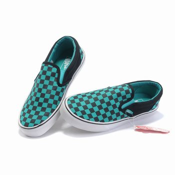 Vans Checkerboard Slip-On Green-Black