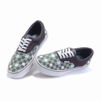Vans Checkerboard Slip-On Grey-White-Green