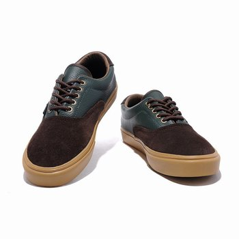 Vans Classics Leather N Canvas Era Brown-Green