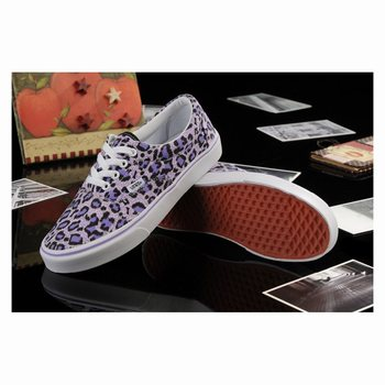 Vans Leopard Authentic Purple