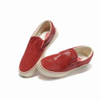 Vans Snakeskin Veins Slip-On Red