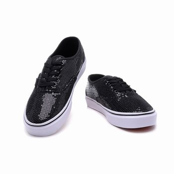Vans Striped Sequins Authentic Black