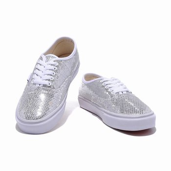 Vans Striped Sequins Authentic White