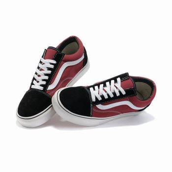 Vans Suede N Canvas Old Skool Darkred-Black
