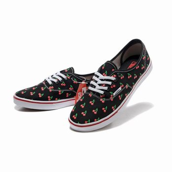 Womens Vans Cherry Authentic Lo Pro Black