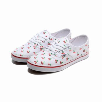 Womens Vans Cherry Authentic Lo Pro White