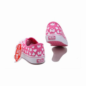 Womens Vans Love Authentic Pink
