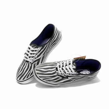 Womens Vans Zebra Authentic Black