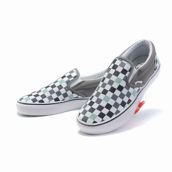 Vans Checkerboard Slip-On Grey-White